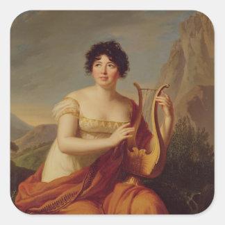 Madame de Stael as Corinne Square Sticker