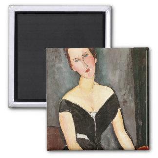 Madame G. van Muyden, 1917 2 Inch Square Magnet