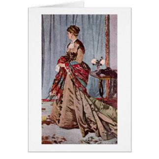 Madame Gaudibert By Claude Monet Card