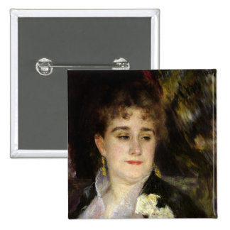 Madame Georges Charpentier , c.1876-7 2 Inch Square Button