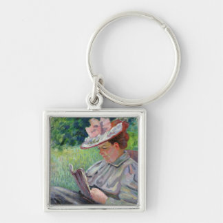 Madame Guillaumin, c.1895 (oil on canvas) Keychain