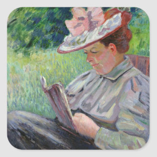 Madame Guillaumin, c.1895 (oil on canvas) Square Sticker
