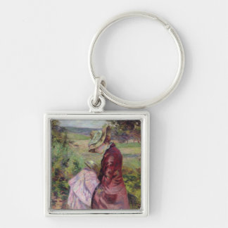 Madame Guillaumin reading, c.1887 Key Chain