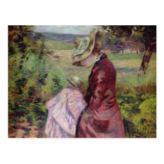 Madame Guillaumin reading, c.1887 Postcard