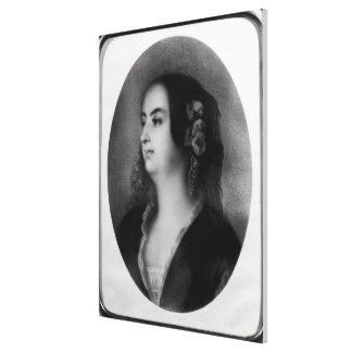 Madame Hanska  engraved by Emile Lassalle Canvas Print