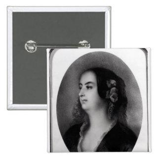 Madame Hanska  engraved by Emile Lassalle Pinback Button