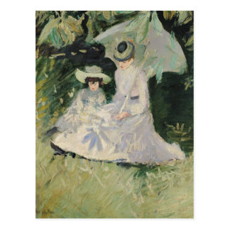 Madame Helleu and her Daughter Postcard