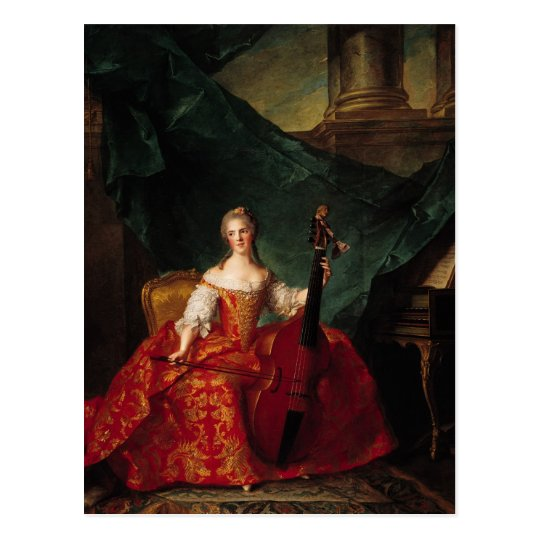 Madame Henriette de France  in Court Postcard
