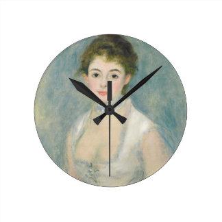 Madame Henriot, c.1876 (oil on canvas) Round Clock