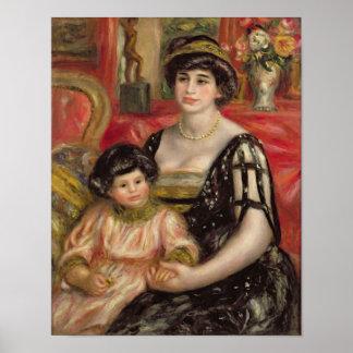 Madame Josse Bernheim-Jeune and her Son Henry Poster