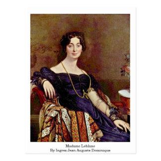 Madame Leblanc By Ingres Jean Auguste Dominique Postcard