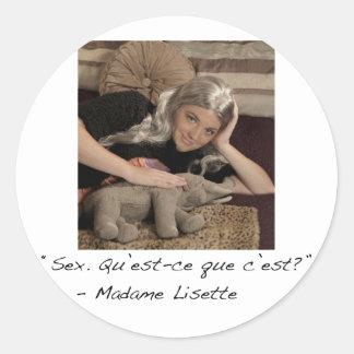 Madame Lisette Sticker