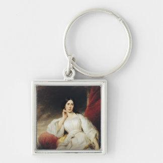 Madame Malibran  in the Role of Desdemona, 1830 Keychain