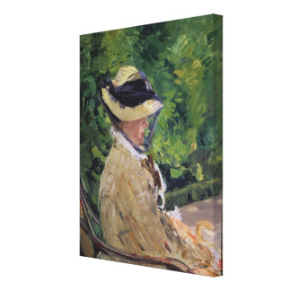 Madame Manet at Bellevue Gallery Wrapped Canvas