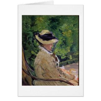 Madame Manet at Bellevue Card