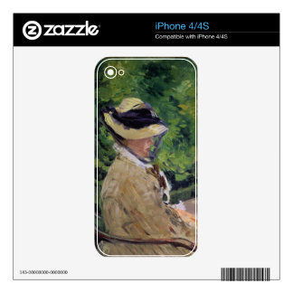 Madame Manet at Bellevue Decal For iPhone 4