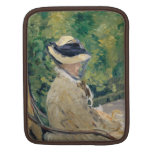Madame Manet at Bellevue - Édouard Manet Sleeve For iPads