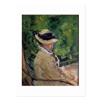 Madame Manet at Bellevue Postcard