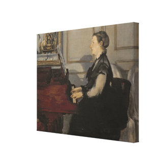 Madame Manet at the Piano 1868 Stretched Canvas Prints
