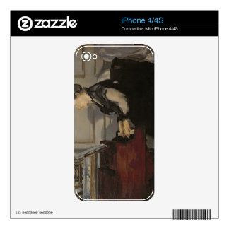 Madame Manet at the Piano, 1868 iPhone 4S Decal