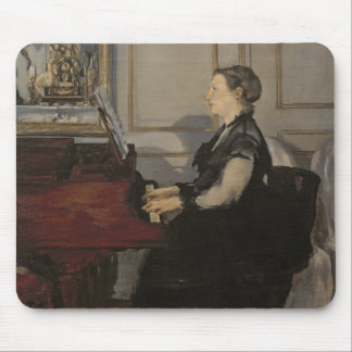 Madame Manet at the Piano, 1868 Mouse Pad