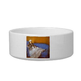 Madame Manet by Edouard Manet Cat Water Bowl