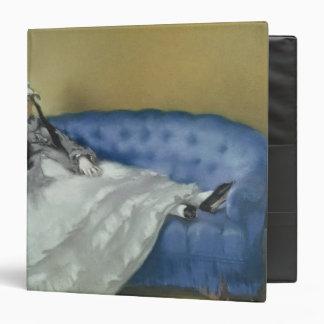 Madame Manet on a Blue Sofa, 1874 3 Ring Binder