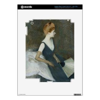 Madame Marthe Letellier Sitting on a Sofa iPad 3 Skin