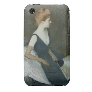 Madame Marthe Letellier Sitting on a Sofa iPhone 3 Cover