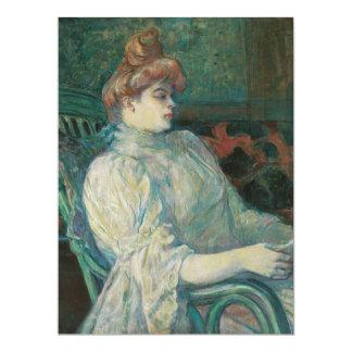 Madame Marthe X by Henri de Toulouse-Lautrec 6.5x8.75 Paper Invitation Card