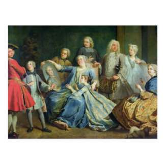 Madame Mercier  Surrounded by her Family, 1731 Postcard