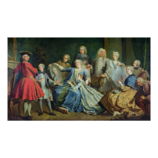 Madame Mercier  Surrounded by her Family, 1731 Poster