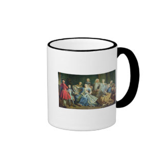 Madame Mercier  Surrounded by her Family, 1731 Ringer Coffee Mug