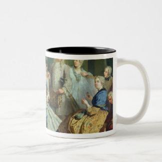 Madame Mercier  Surrounded by her Family, 1731 Two-Tone Coffee Mug