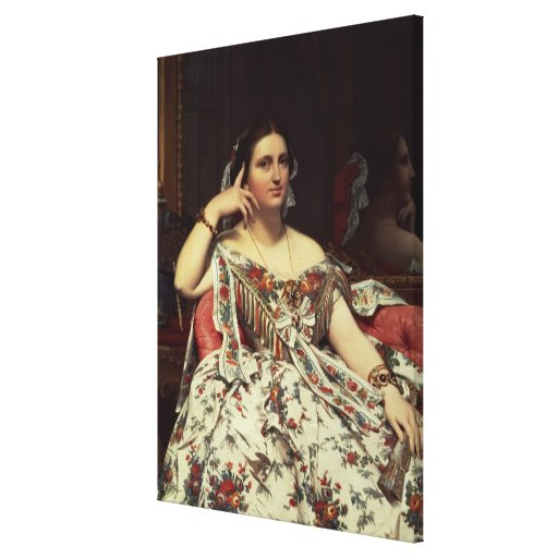 Madame Moitessier, 1856 Stretched Canvas Prints