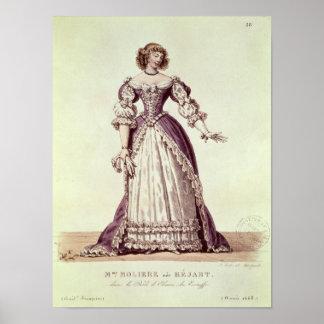 Madame Moliere, nee Armande Bejart Posters