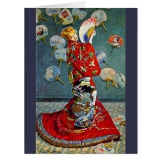 Madame Monet 1876 Large Greeting Card