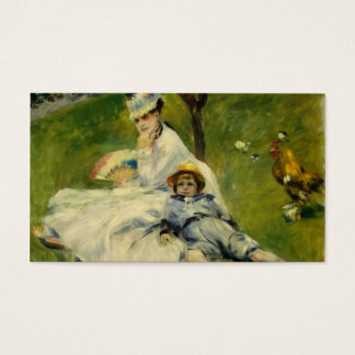 Madame Monet and her Son by Auguste Renoir Business Card