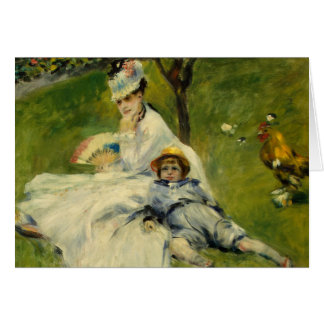 Madame Monet and her Son by Auguste Renoir Card