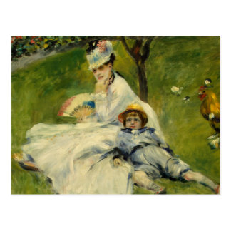Madame Monet and her Son by Auguste Renoir Postcard
