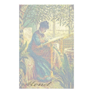 Madame Monet Embroidering, by Claude Monet Personalized Stationery