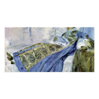 Madame Monet On The Sofa By Pierre-Auguste Customized Photo Card