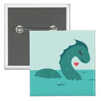Madame Nessie 2 Inch Square Button