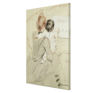Madame Paul Helleu and her Daughter Paulette Canvas Print