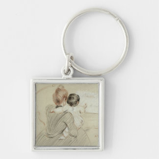 Madame Paul Helleu and her Daughter Paulette Keychains