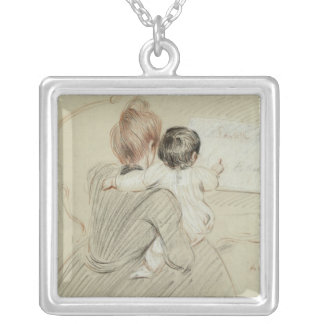 Madame Paul Helleu and her Daughter Paulette Silver Plated Necklace