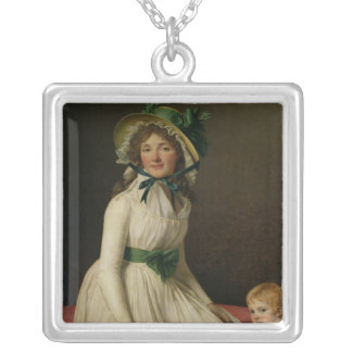 Madame Pierre Seriziat  with her Son, Emile Silver Plated Necklace