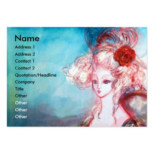MADAME POMPADOUR ,Beauty,Salon,Spa ,Makeup Artist Business Card Template