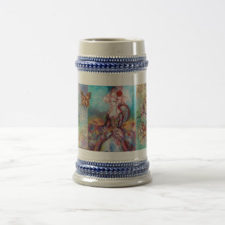 MADAME POMPADOUR / BUTTERFLY IN GOLD SPARKLES BEER STEIN