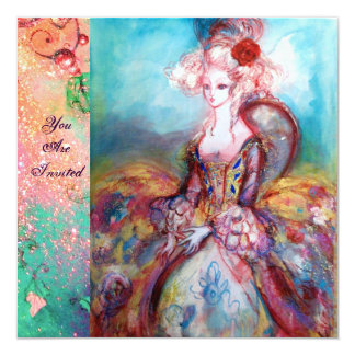 MADAME POMPADOUR ,Classy Gold Costume Party Card